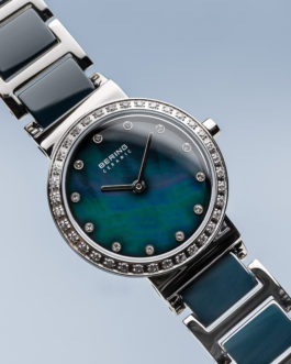 Bering Ceramic Polished Silver Watch