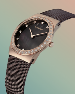 Bering Classic Brushed Rose Gold Watch