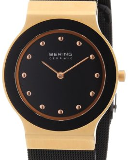 Bering Ceramic Polished Gold Watch