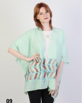 Cherie Bliss Abstract Embroidery Kimono