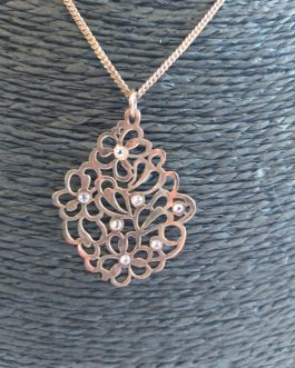 925 Silver Necklace Rose Gold Plated