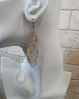 Earrings gold plated with strass