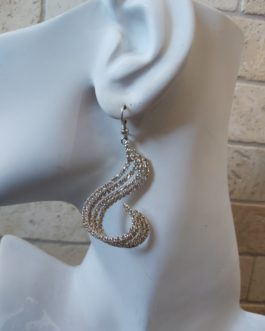 Earrings silver plated with strass